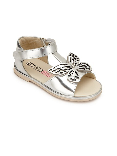 Toddler's, & Kid's Metallic Butterfly Sandals