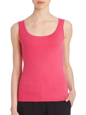 Fitted Cashmere Tank by Michael Kors Collection
