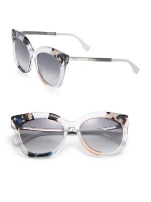 53MM Oversized Cat Eye Sunglasses