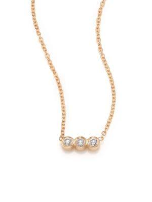 Zoë Chicco Necklaces Diamond & 14K Yellow Gold Pendant Necklace