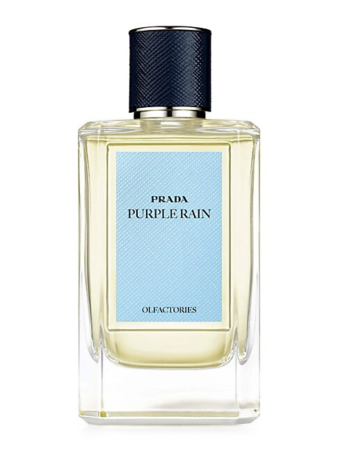 Image of EXCLUSIVELY AT SAKS FIFTH AVENUE. Prada's iconic Iris reimagined. The fragile perennial fortified into an opulent bloom that evokes its namesake goddess of the rainbow: a link between land and sky, heaven and humanity. Purple Rain is the complex, yet unde