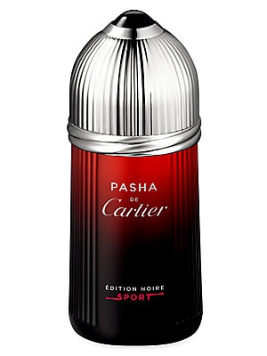 Image of An energized and invigorating version of Pasha de Cartier Edition Noire. The fougère accord and cedar depth are refreshed by a citrus sea mist with fruity overtones. 3.3 oz. Made in France. Fragrances - Cartier Fragrances > Saks Fifth Avenue. Cartier. Siz