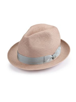 BARBISIO Handmade Woven Straw Hat in Brown