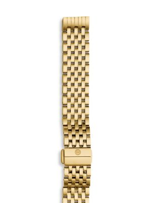 MICHELE WATCHES Gold-Plated Stainless Steel Chain-Link Watch Strap in Yellow