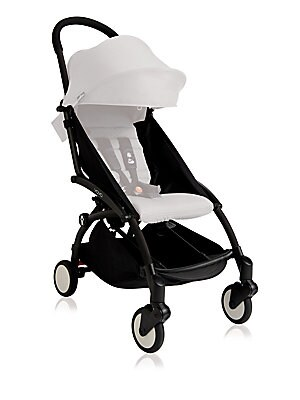 Image of Perfect for short strolls and long hauls, lightweight and compact frame folds to fit an airline's overhead compartment. Foldable design Airline certified size of a carry-on bag Exclusive soft drive system/no need to lock front swivel wheel Accomodates chi