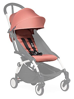 "Image of Customizable pop-up canopy and seat pad for the Yoyo+ stroller frame. Fully reclined newborn nest with 5-point harness Pop-up canopy Recommended for ages 6 months and up 15.5"" X 15.5"" X 22"" Nylon Machine wash Imported Please note: Stroller frame sold sepa"