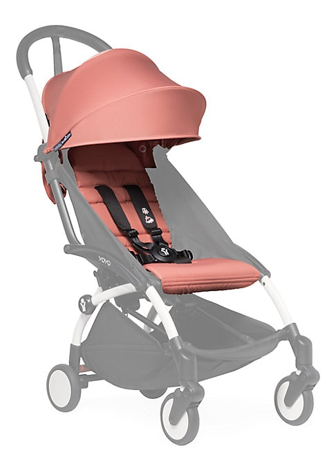 "Image of Customizable pop-up canopy and seat pad for the Yoyo+ stroller frame. Fully reclined newborn nest with 5-point harness. Pop-up canopy. Recommended for ages 6 months and up.15.5"" X 15.5"" X 22"".Nylon. Machine wash. Imported. Please note: Stroller frame sold"