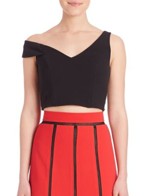One-Shoulder Cropped Top by ABS