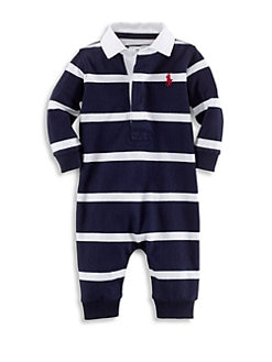 fdbb08e6f Ralph Lauren. Baby Boy s Striped Cotton Rugby Coverall