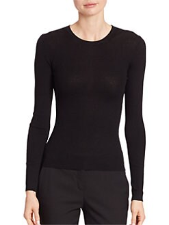 Ribbed Cashmere Sweater BLACK. Ribbed Cashmere Sweater WHITE. Product image