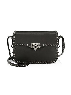 9c934d20e2 Product image. QUICK VIEW. Valentino Garavani. Rockstud Leather Shoulder Bag