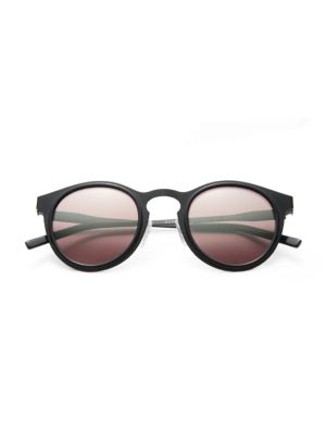 KYME Miki 46Mm Round Mirror Sunglasses in Black