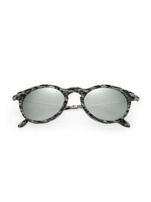 KYME 48Mm Oval Sunglasses in Silver