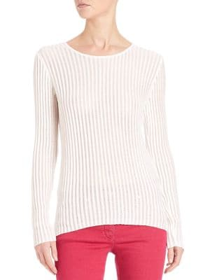 Lightweight Ribbed Pullover by Escada