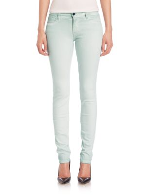 Alveole Map Rosace Embroidered Skinny Jeans by Brockenbow