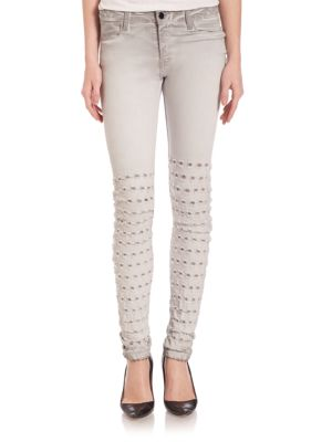 Alveoles Jaretelle Knee Detail Skinny Jeans by Brockenbow