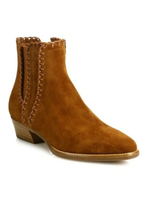 Woman Presley Suede Ankle Boots Light Brown in Dk Luggage