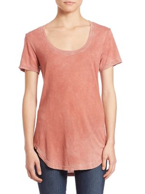 Mykonos Scoopneck Supima Cotton Blend Tee by Cotton Citizen