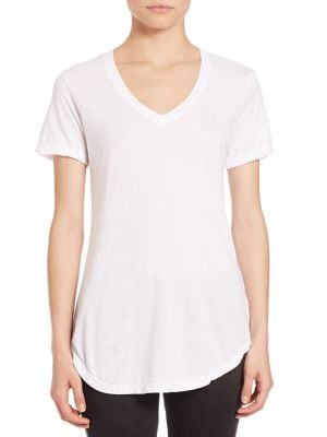 Mykonos V-Neck Supima Cotton Blend Tee by Cotton Citizen