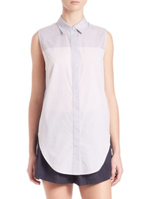 Striped Sleeveless Button Down Top by 3.1 Phillip Lim