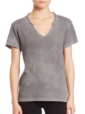 Supima Cotton Marbella V-Neck Top by Cotton Citizen