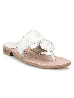 faca13a3e Palm Beach Leather Thong Sandals WHITE. QUICK VIEW. Product image. QUICK  VIEW. Jack Rogers