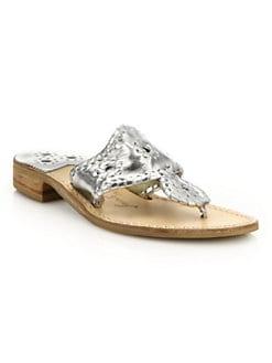 6432c782d QUICK VIEW. Jack Rogers. Hamptons Metallic Leather Sandals