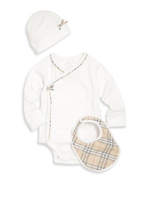 Babys ThreePiece Bodysuit Bib  Hat Set