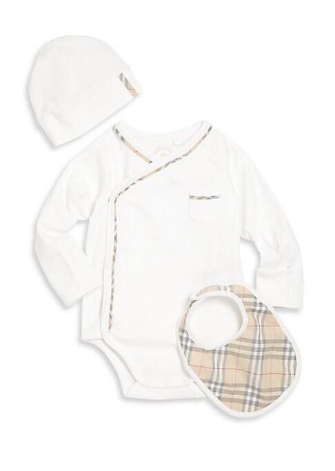 Babys Konner Boys ThreePiece Bodysuit Hat  Bib Gift Set