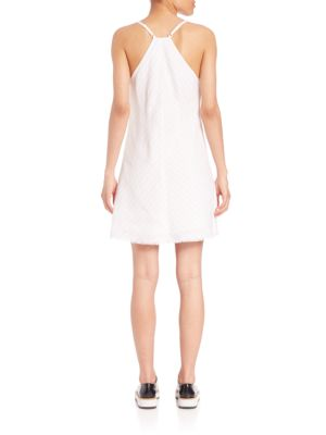 ATM ANTHONY THOMAS MELILLO Linens Deep V-neck Shift Dress
