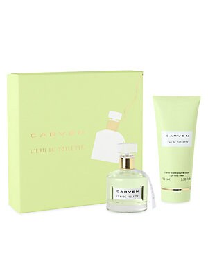 Image of Carven L'Eau de Toilette is an elegant, feminine fragrance that exudes charm and captures the spirit of couture. It's housed in a delicate, graceful bottle to make the perfect addition to your dresser. This gift set includes a 1.7 oz. Eau de Parfum Spray