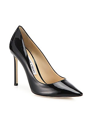 68ed826a54f Jimmy Choo - Romy Patent Leather Point Toe Pumps - saks.com