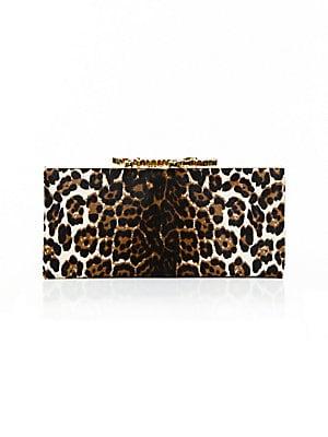 a5a7833edeb5 Jimmy Choo - Celeste Leopard Print Pony Hair Clutch - saks.com