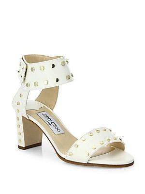 070a2cf7e313 Jimmy Choo - Veto Studded Leather Block Heel Sandals - saks.com