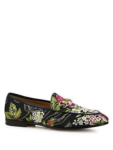 8ef03a105f5 Gucci Jordaan Floral Jacquard Loafers on sale at Saks Fifth Avenue for  268  was  670