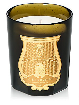 "Image of The muffled light of dawn slips through the flower beds. A fine shadow sneaks among the roses, jasmine, camellias and irises. Burn time: 55 to 60 hours 41.25""H x 3.5""D 9.5 oz. Imported. Fragrances - Lifestyle Home Collectio. Cire Trudon."