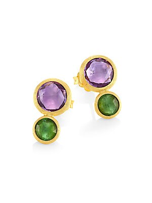 d36f4afdfa86 Marco Bicego - Jaipur Amethyst   Tourmaline Stud Earrings - saks.com