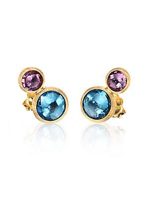 077336f42923 Jaipur Amethyst   Tourmaline Stud Earrings.  935.00. Marco Bicego - Jaipur  Topaz