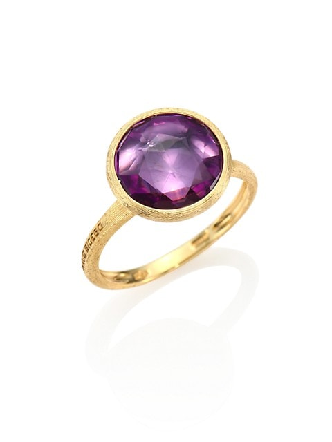 Jaipur Amethyst & 18K Yellow Gold Medium Stackable Ring