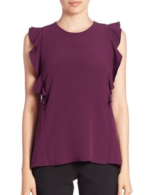 Ruffled Sleeveless Top by Carven
