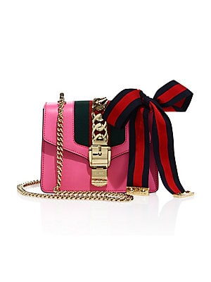2819bc9d9ebf Gucci - Sylvie Leather Mini Chain Bag - saks.com