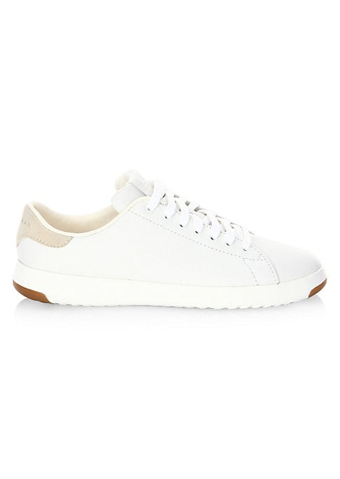Image of Casual lightweight sneaker in smooth leather with tonal stitching. Leather upper. Minimalist tonal stitching. Round toe. Lace-up vamp. Leather lining. EVA outsole with Grand.S technology. Textile covered footbed for comfort and breathability. Rubber pods
