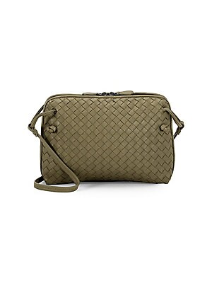 Bottega Veneta Pillow Intrecciato Leather Crossbody Bag