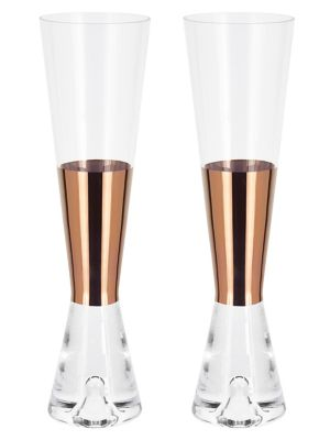 Tom Dixon Tank Set Of 2 Champagne Glasse