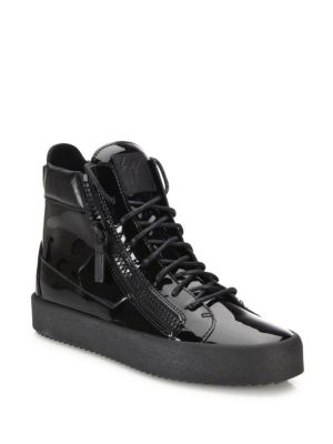 Zipper Accented High Top Sneakers by Giuseppe Zanotti