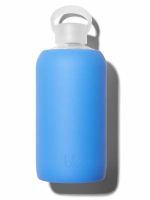 Sheer Periwinkle Glass Water Bottle/33 oz.