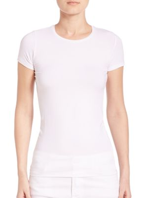 Majestic Women's Soft Touch Short-sleeve Tee In Blanc
