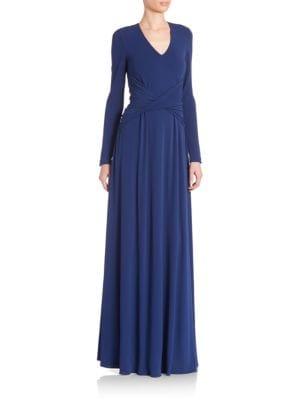Draped Long Sleeve Dress