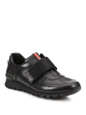 Low Leather Sneakers by Prada