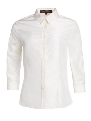 Slim Classic Silk Blouse by Carolina Herrera